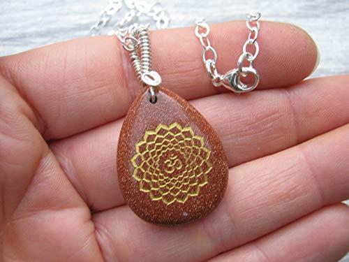 Goldstone Pendant Necklace - 18