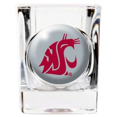 (Great American Products Washington State Cougars 2oz Square Shot Glass - Acrylic Logo )