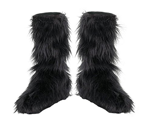 Disguise D/Ceptions 2 Black Furry Boot Covers Costume Accessory, One Size Child (Kids Bride Costume)