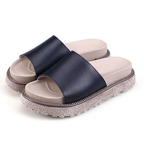 Résistant Fond Tenthree Grande ChaussonsAux Sandales Style6 Femmes Appartement Chaussures À Épais L'usure Taille Antidérapant Femme Noir Chaussure Été hQrtsCd