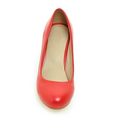 Zanpa Low Pumps Heel Basic Women 1 Red Shoes BZqBvw