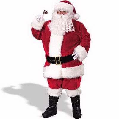 Regency Plush Red Santa Suit Adult Costume - X-Large (Regency Suit Santa)