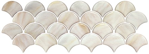 Beaustile Mosaic 3D Wall Sticker Abalone Shell Home Decor Fire Retardant Backsplash Wallpaper Bathroom Kitchen DIY Design