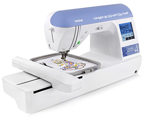 Brother SE1800 (SE 1800) Sewing and Embroidery Machine w/ USB Port + Hard Carrying Case + 5'' x 7'' Embroidery Hoop + 5'' x 12'' Multi-Positionable Hoop + 11 Sewing Feet + More by Brother