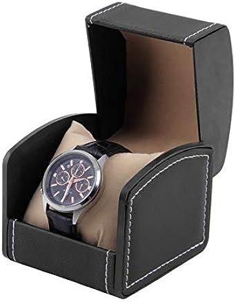 Caja de Regalo de la Caja de presentación de Caja de Reloj de Cuero de la PU para la joyería del Reloj: Amazon.es: Relojes