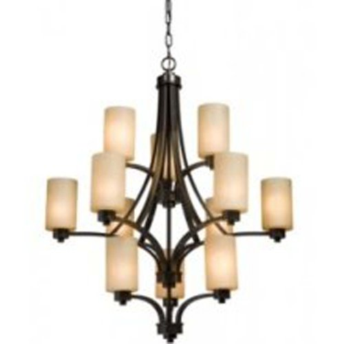 (Artcraft Lighting Parkdale 12-Light 3-Tier Large Chandelier, Oil-Rubbed Bronze)
