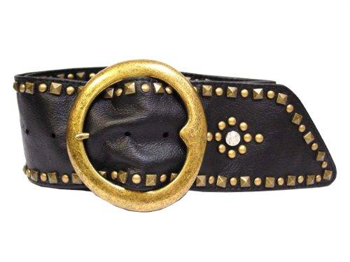 Arden B. Women's Genuine Leather Vintage Style Studded Sash Waistbelt (S/M ()