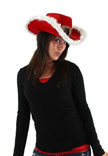 Velvet Cowboy Hat (elope Christmas Cowboy Hat, Multi-Colored, One Size)