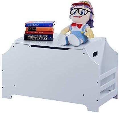 WODENY Toy Storage Box for Kids Children Toy Chest Toys Organizer Large Wooden White