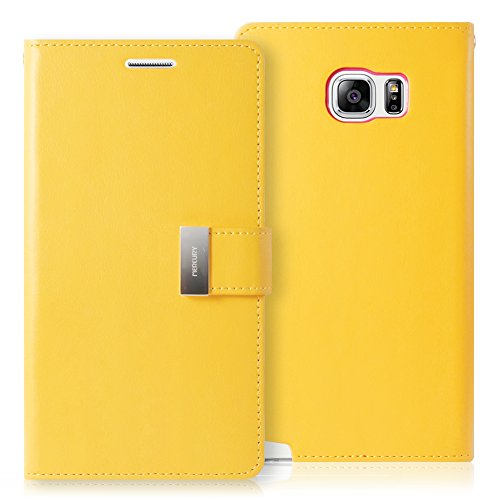 Galaxy NOTE 5 Case, GOOSPERY Rich Diary  Premium Soft Synthetic Leather Case  Cover  - Yellow