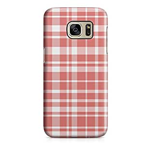 Samsung S7 Case Lovely Plaid Pattern Red Light Weight Clear Edges Samsung S7 Cover Wrap Around