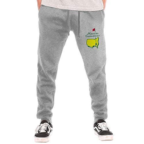 Masters Tournament Augusta National Golf Men's Fashion Sweatpants Workout Athletic Jogger Long Pants Gray