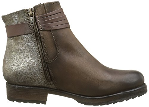 and Taupe Lined Length Booty Brown Boots Boots Bunker Women's Cold Calf Ankle qf070P