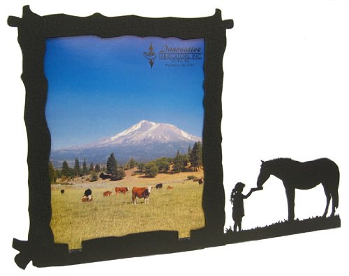 Innovative Fabricators, Inc. Girl Feeding Horse 8X10 Vertical Picture Frame