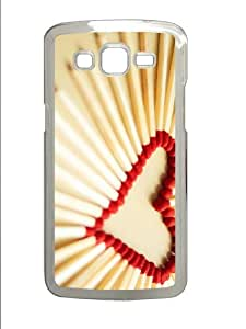 online cases Heart Matchsticks PC Transparent case/cover for Samsung Galaxy Grand 2/7106