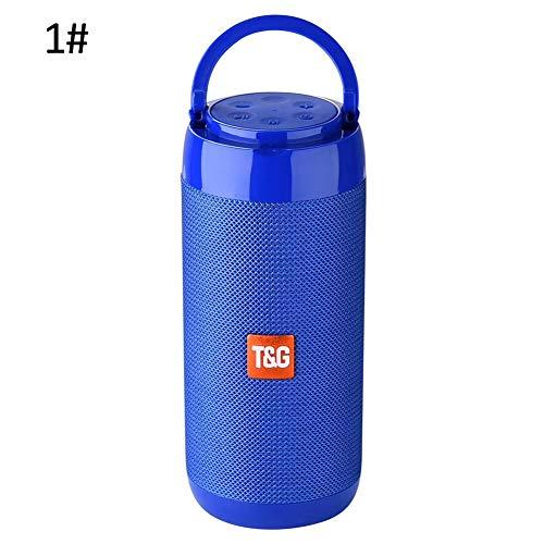 - TYewa98556 Household Handheld Waterproof Outdoors Portable Phone Stand Bluetooth Professional Speaker Sound Box - Blue