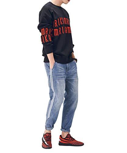 Mezclilla Los Hombres Fit Ocio Vaqueros De De Moda De Mezclilla Destruidos Pantalones Mezclilla Pantalones De De Pantalones Slim Suaves Blau1 De Cómodamente De Pantalones Pantalones Vintage 0XqIva