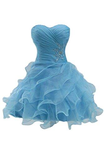 sunvary Hot oranza Sweetheart Vestido de Cóctel Vestido De Fiesta Corta Azul