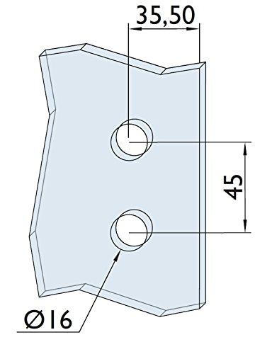 Hermat Stil-Echt GmbH Glast/ürbeschlag Set Glast/ürschlo/ß Officeb/änder Glast/ürbeschl/äge Edelstahl