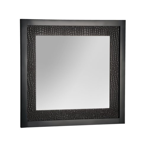 Foremost MABM2927 Mattra Bathroom Mirror, Espresso Bean Leather Floor Mirror