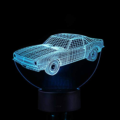 - Night Lights,3D Children Night Lamp 7 LED Colors Changing Lighting Table Desk Decoration