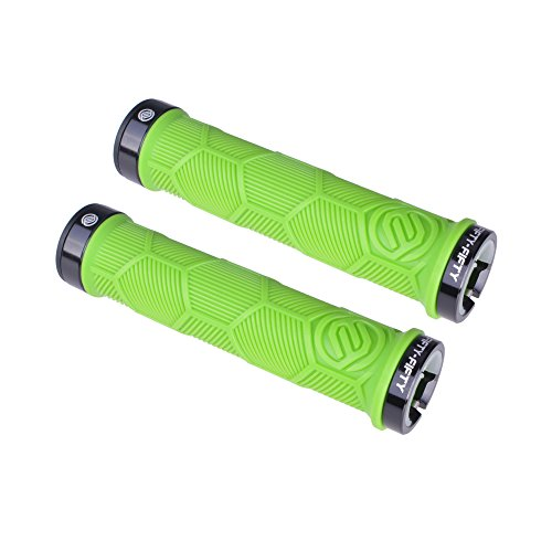FIFTY-FIFTY Dual Lock-on Bike Grips(Green) (Best Mountain Bike Lock On Grips)