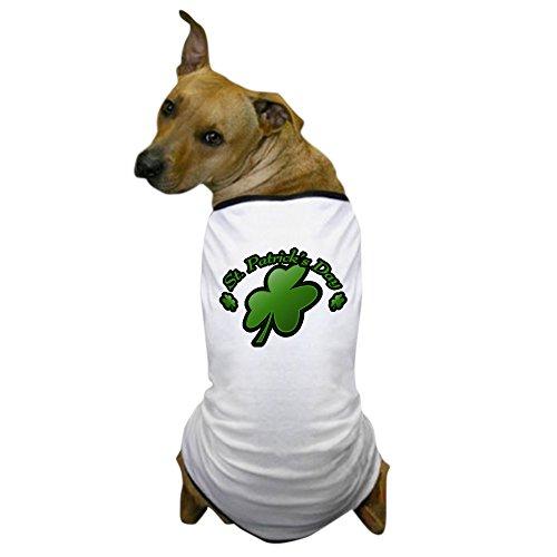 CafePress - St. Patricks Day Clover Dog T-Shirt - Dog T-Shirt, Pet Clothing, Funny Dog Costume (80s Style Guys)