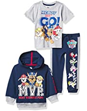 Nickelodeon Paw Patrol Graphic Hoodie, T-Shirt, & Jogger Sweatpant, 3-Piece Athleisure Outfit Bundle Set-Toddler Boys-Nick Jr