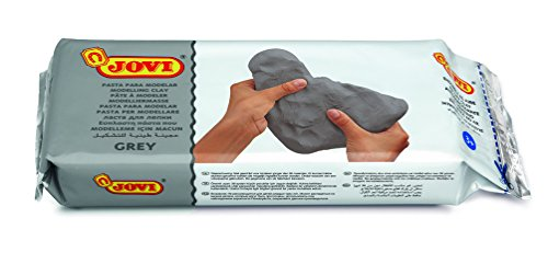 Jovi Air-Dry Modeling Clay Non-Staining, Perfect for Arts and Crafts Projects, Grey, 2.2 (Art Clay Molds)