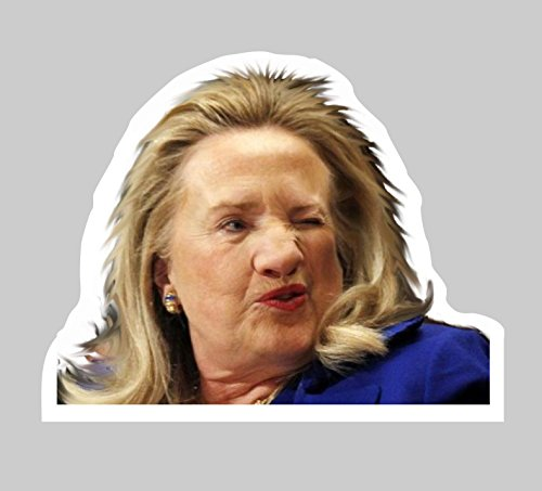Wall Hillary Clinton UGLY Full Color Decal STICKER Poster Size on white