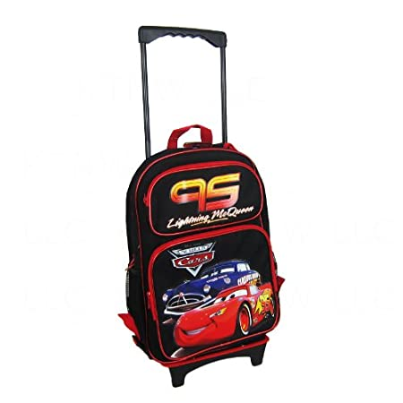 Amazon.com: Officially Licensed Disney Pixar Cars Child Size Convertible Three Zipper Pocket Backpack - Lightning McQueen and Doc Hudson: Sports & Outdoors