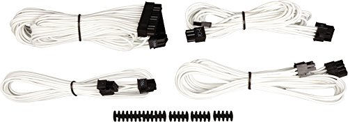 Corsair CP-8920146 Premium PSU Cable Kit, Individually Sleeved Cables, Starter Package, White