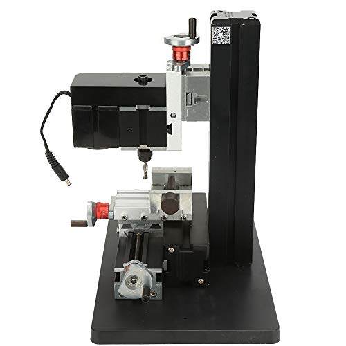 Metal Mini Milling Machine CNC DIY Tool, High Accuracy 24W Metal Milling Machine for Processing Wood 20000rpm