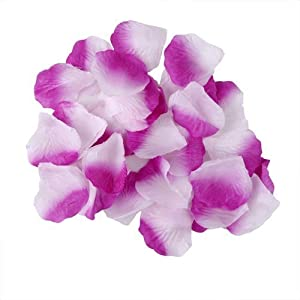 Dealzip Inc Artificial Silk Rose Fabric Flower Petals Wedding Assorted Fake Decor Table Aisle Scaters Confetti Gold Supplies Bridal Wedding Party Birthday Decoration Light 114