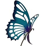 Cheap Modern Artisans American Made Large Metal Butterfly Garden Sculpture/Stake – Purple/Blue