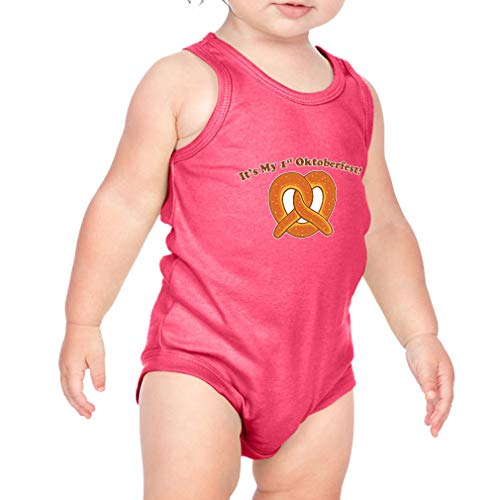 Cute Rascals It's My First Oktoberfest Cotton Tank Scoop Neck Boys-Girls Infant Bodysuit One Piece - Hot Pink, 6 Months for $<!--$21.99-->