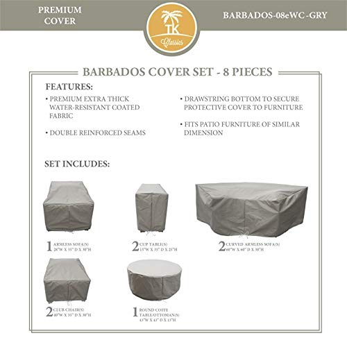 TK Classics BARBADOS-08e Protective Cover Set in Gray