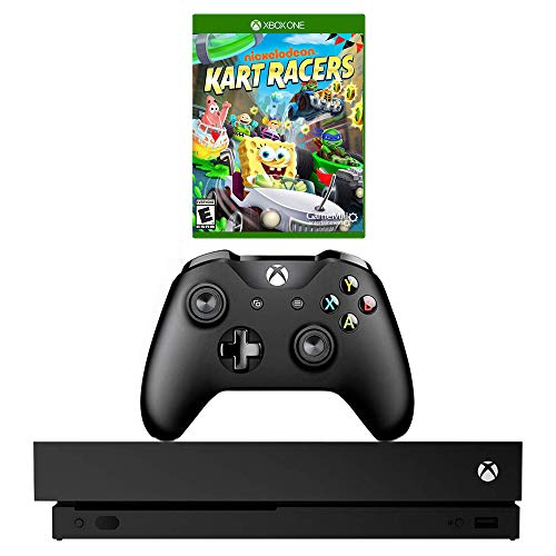 Microsoft Xbox One X 1TB Console with Nickelodeon Kart Racers Game Bundle (Renewed)