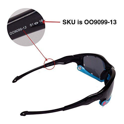 Walleva Polarized Ice Blue Lenses And Blue Earsocks For Oakley Split Jacket