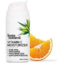 InstaNatural Vitamin C Moisturizer Cream - Anti Aging Face Lotion with Hyaluronic Acid & Organic Jojoba Oil - Fine Lines, Wrinkles, Hyperpigmentation, Dark Spots, & Acne - Men & Women - 3.4 oz