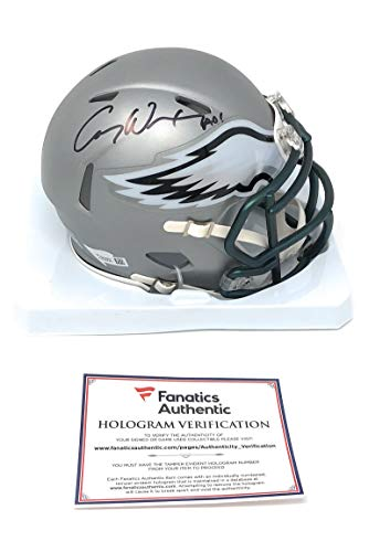 Carson Wentz Philadelphia Eagles Signed Autograph BLAZE Speed Mini Helmet Helmet Fanatics Authentic Certified