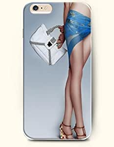 OOFIT Apple iPhone 6 Case 4.7 Inches - Sexy Leg and White Handbag