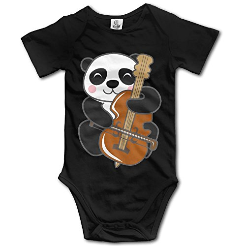 (Unisex Baby's Climbing Clothes Set Panda Bodysuits Romper Short Sleeved Light Onesies for 0-24)