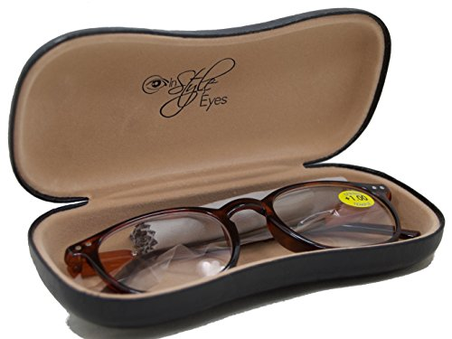 In Style Eyes® Wall Street II, Stylish Classic Look Spring Hinged Reading Glasses/Black/1.25