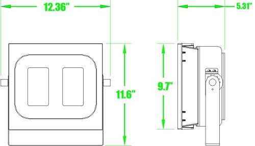 Enlight LED LD-FD-K150U UL Certified 150W LED Flood Light 120 Degree Light Angle 15,000 lm, Cool White, Heavy Duty Aluminum by Enlight LED (Image #5)
