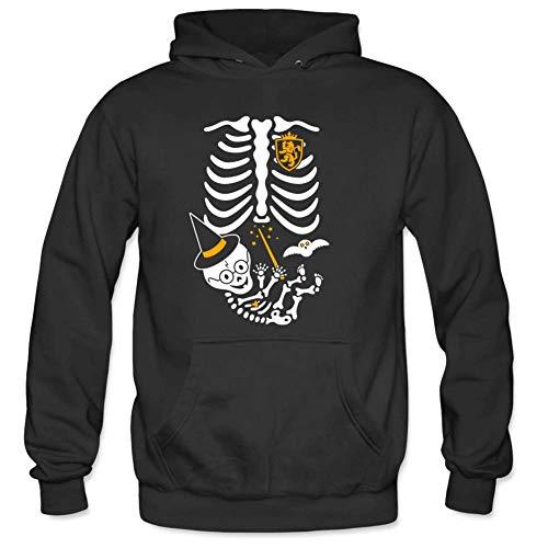 Bart Perkin Men's Skeleton Maternity Witch Male Hooded Sweatshirts L Black