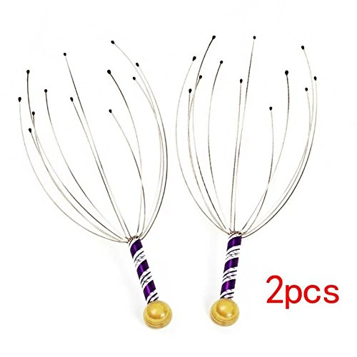 Brendacosmetic Pack of 2 Hand Held Scalp Head Point Head Massager, Portable Head Massage Head Scalp Healthy Massage for - Use Boots You Points Online Can