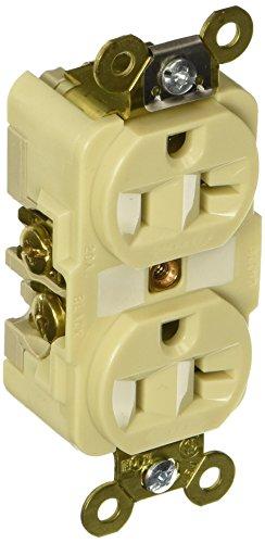 Hubbell HBL5362I Duplex Receptacle, HD Industrial Grade, 20 amp, 125V, 5-20R, ()