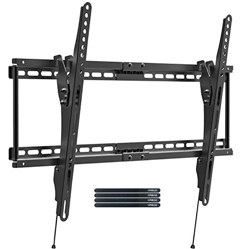 GINKGO TV Wall Mount Bracket Full Motion Wide Titl TV Mounts for Most 32-70 Inch LED, LCD, OLED 4K Flat Screen Monitor & Curved TV up to 165 lbs VESA 600x400, Fits 24 inch Studs