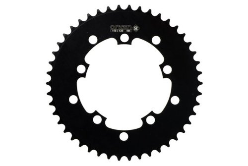 Origin8 BMX / Singlespeed / Fixie Chainring, 46t, 110/130 BCD, 1/8, Black